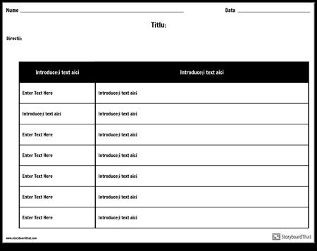 Tabel - 2 Coloane, 7 Rânduri, Varianta 2