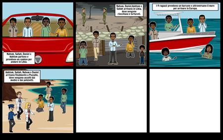 La storia di Habtom, Sallah, Nahom e Daniel.