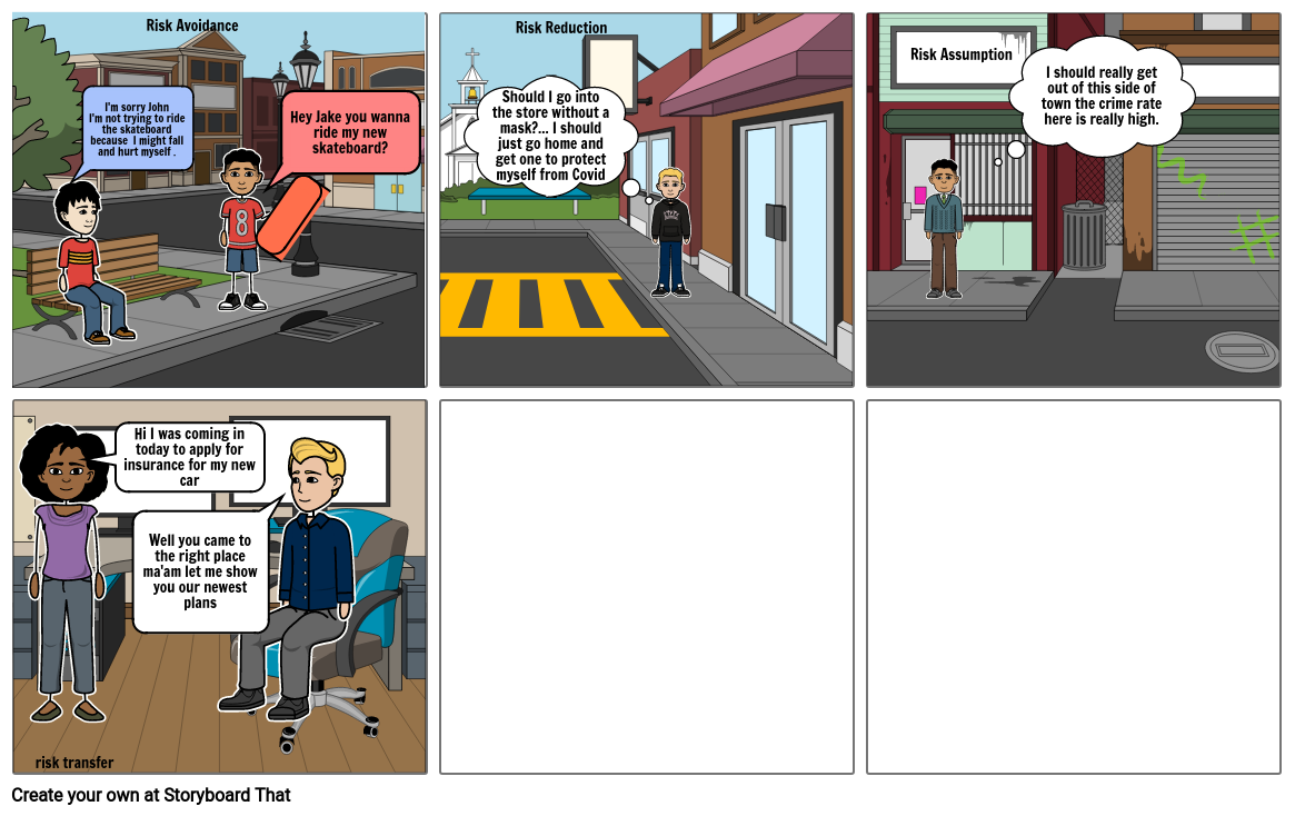 Business project comic strip