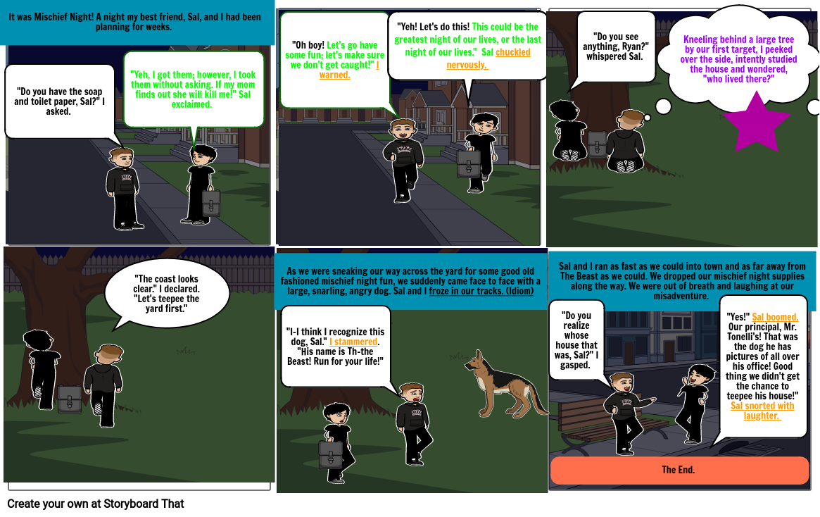 Comic Strip- Mischief Night