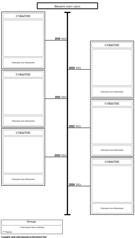 Шаблон Временной Шкалы События и Описания