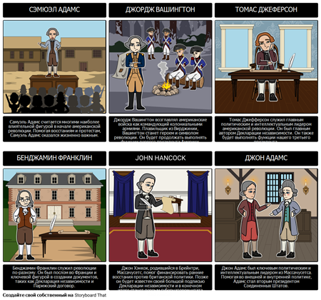 Основные Фигуры Американской Революции