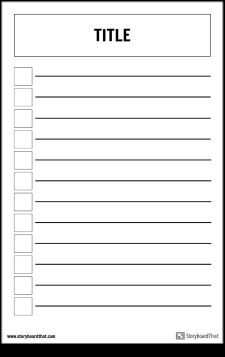 Основной Контрольный Список Плакат