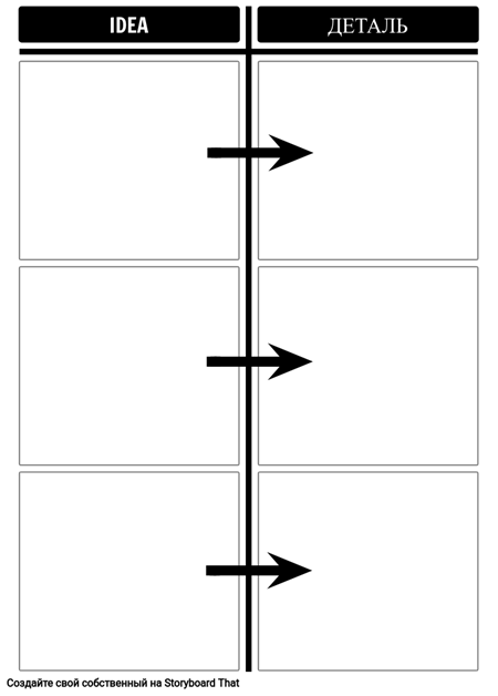 Шаблон Идеи / Детальной Диаграммы