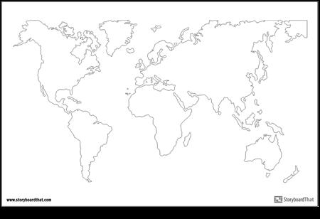Плакат с Картой Мира