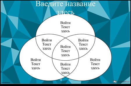 Диаграмма Венна 3 Круга