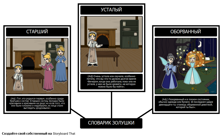 Золушка Словарь
