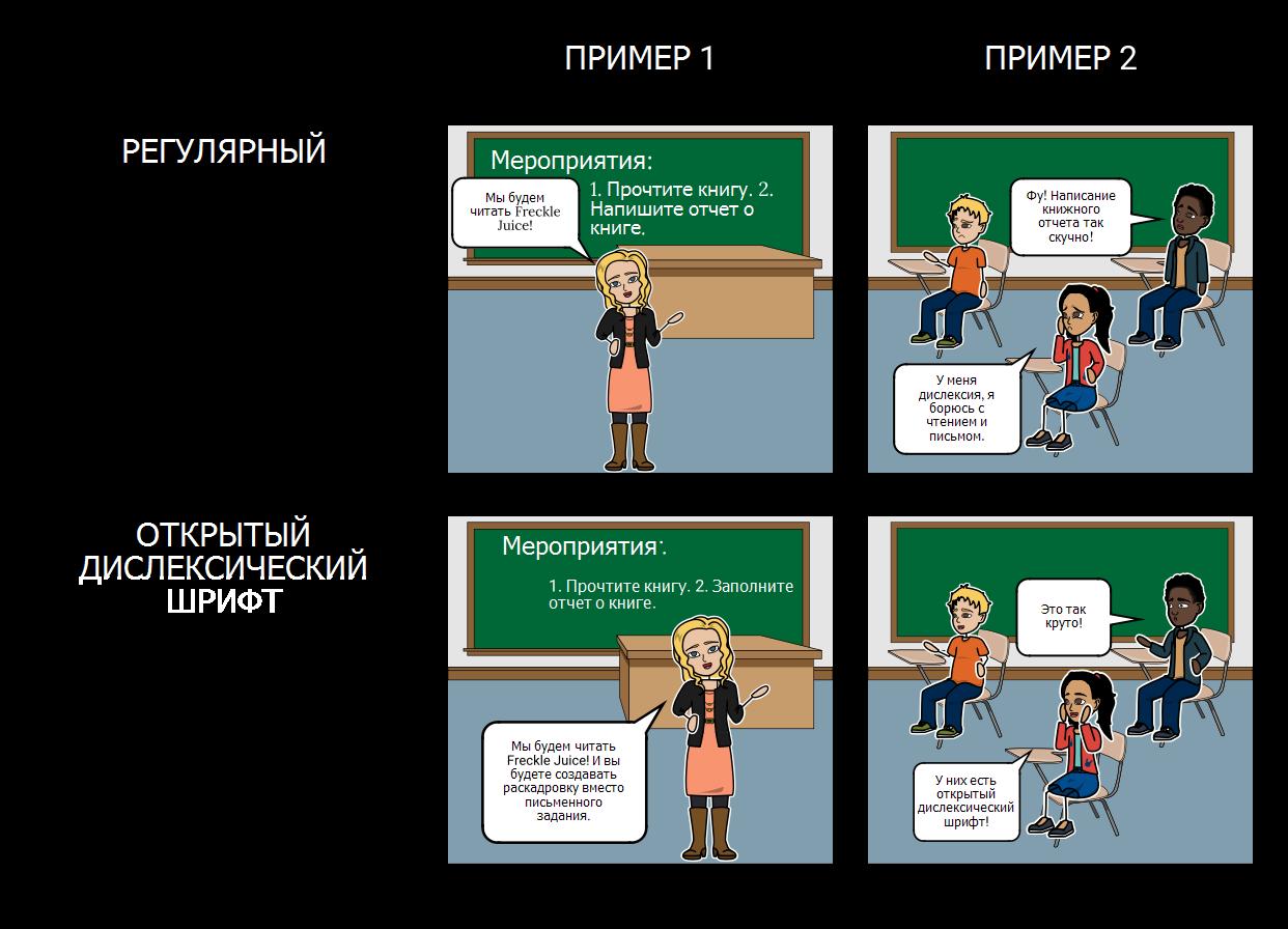 Открыть Dyslexic Font Раскадровки