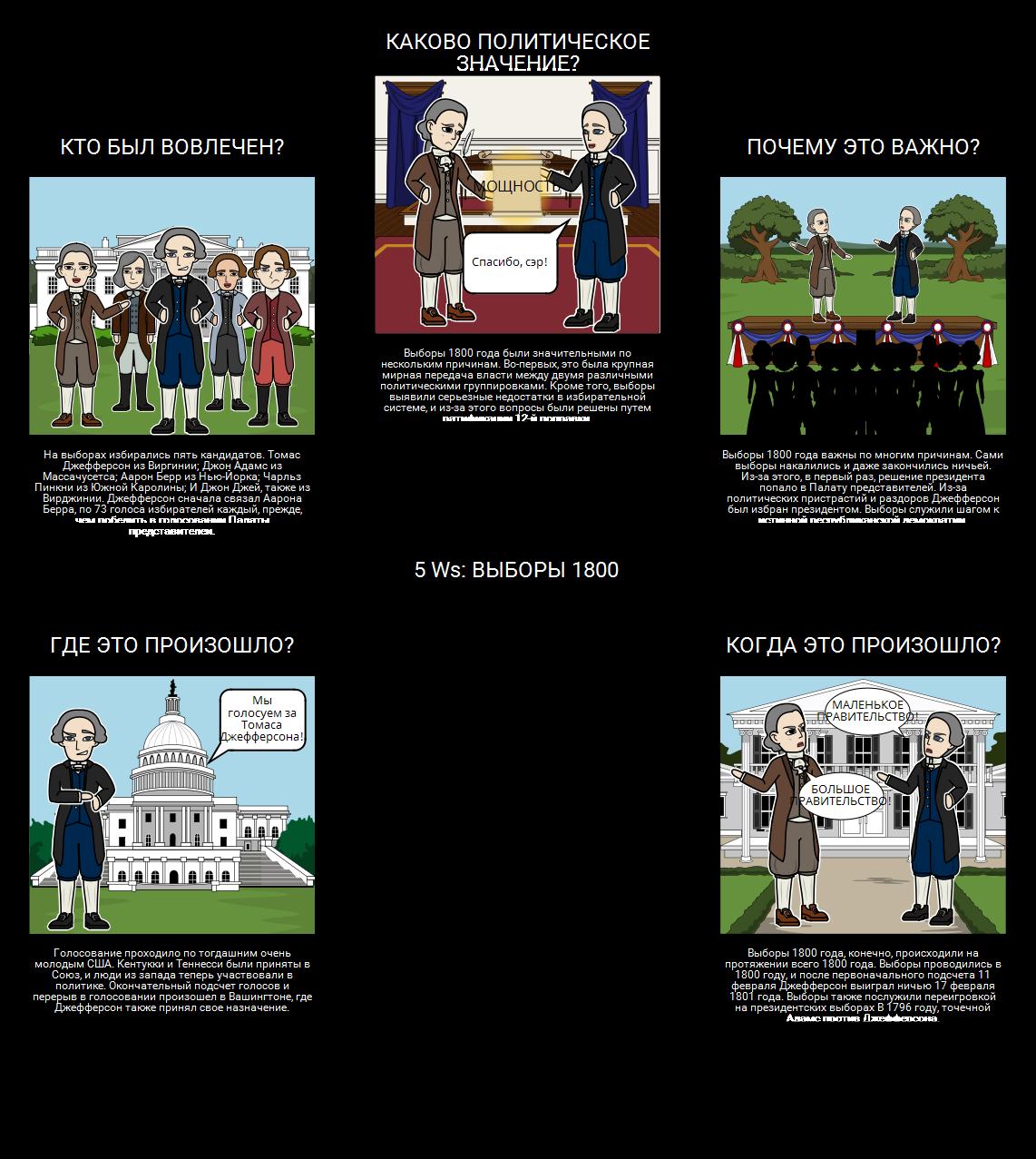 Выборы 1800 - 5 Ws