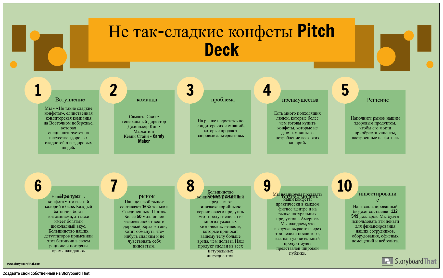 Пример Pitch Deck Info