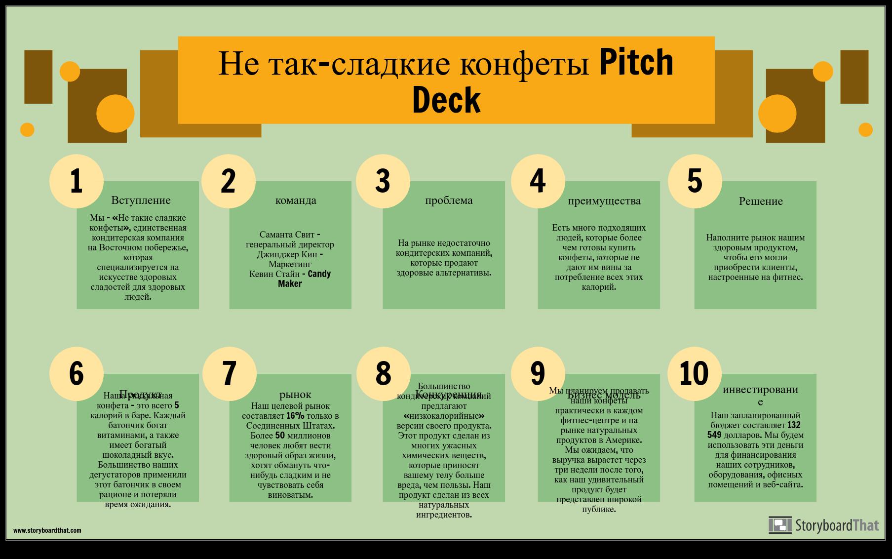 Пример Pitch Deck Info