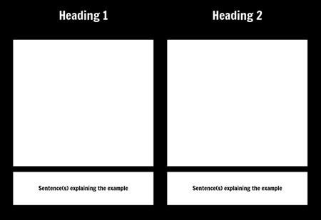 T-Chart с описанием 1 ряд