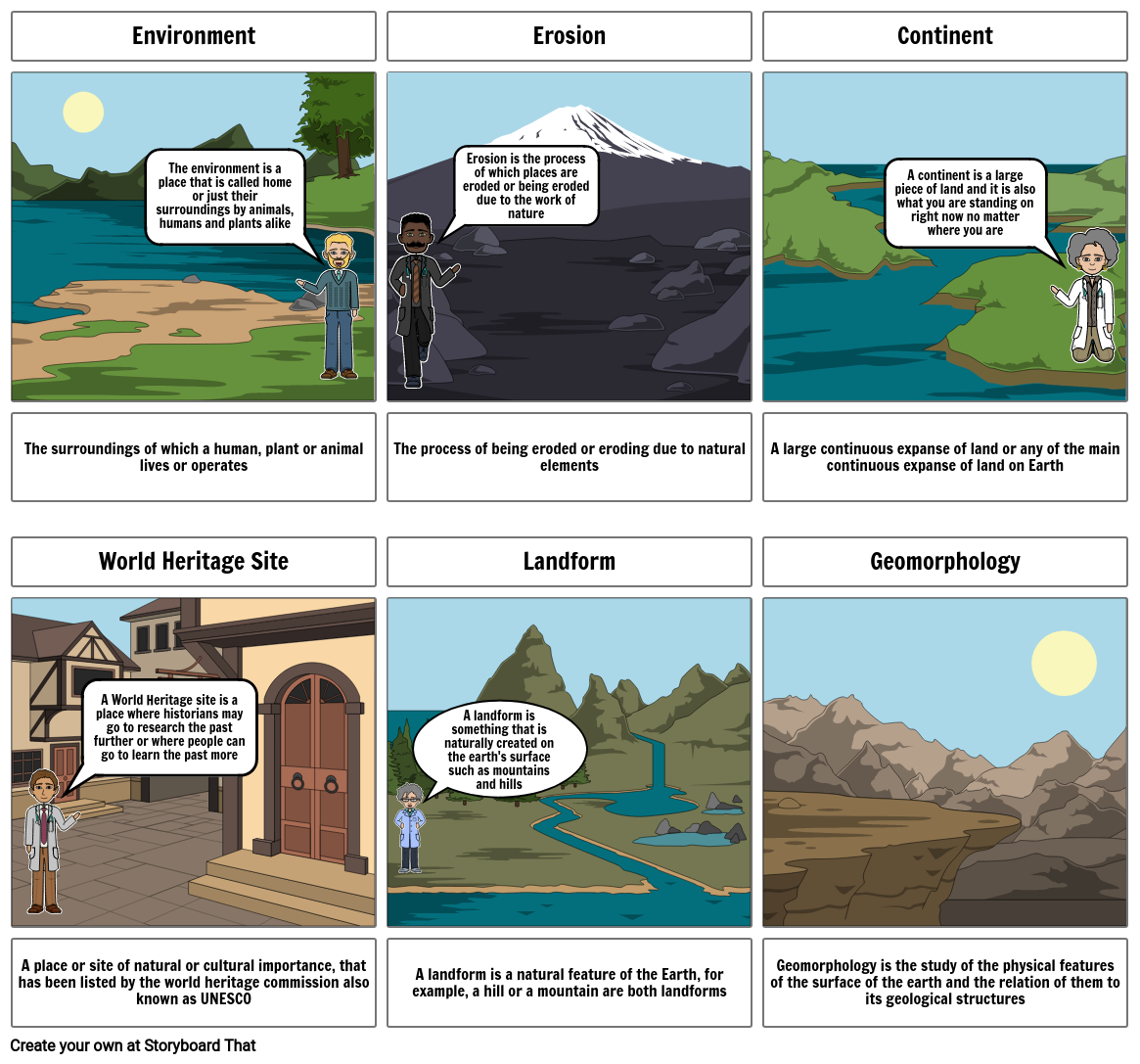 Geography Story Board