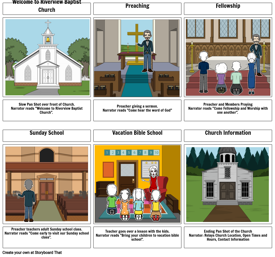 Riverview Baptist Church Storyboard