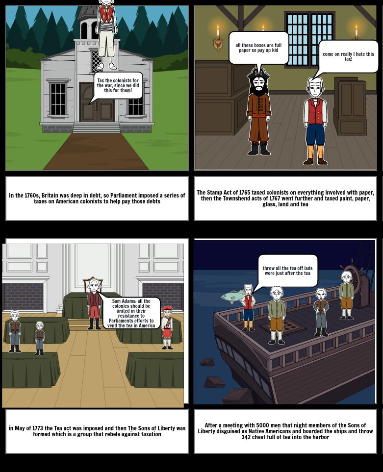 Boston Tea Party Comic Strip