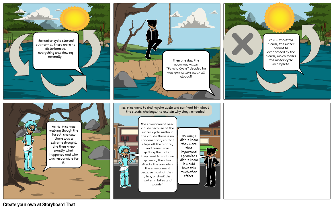 Save the Water Cycle! (Bio. Water Cycle Comic Strip)