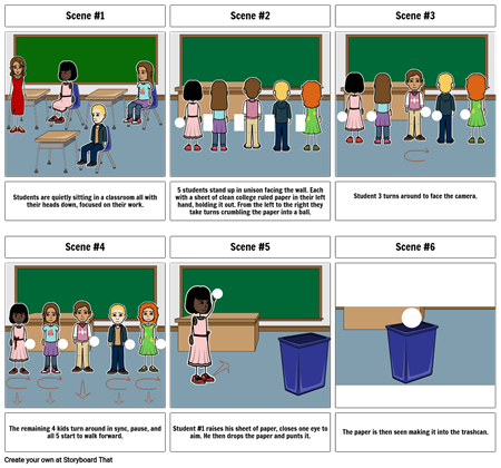 Trash can storyboard. Part 1