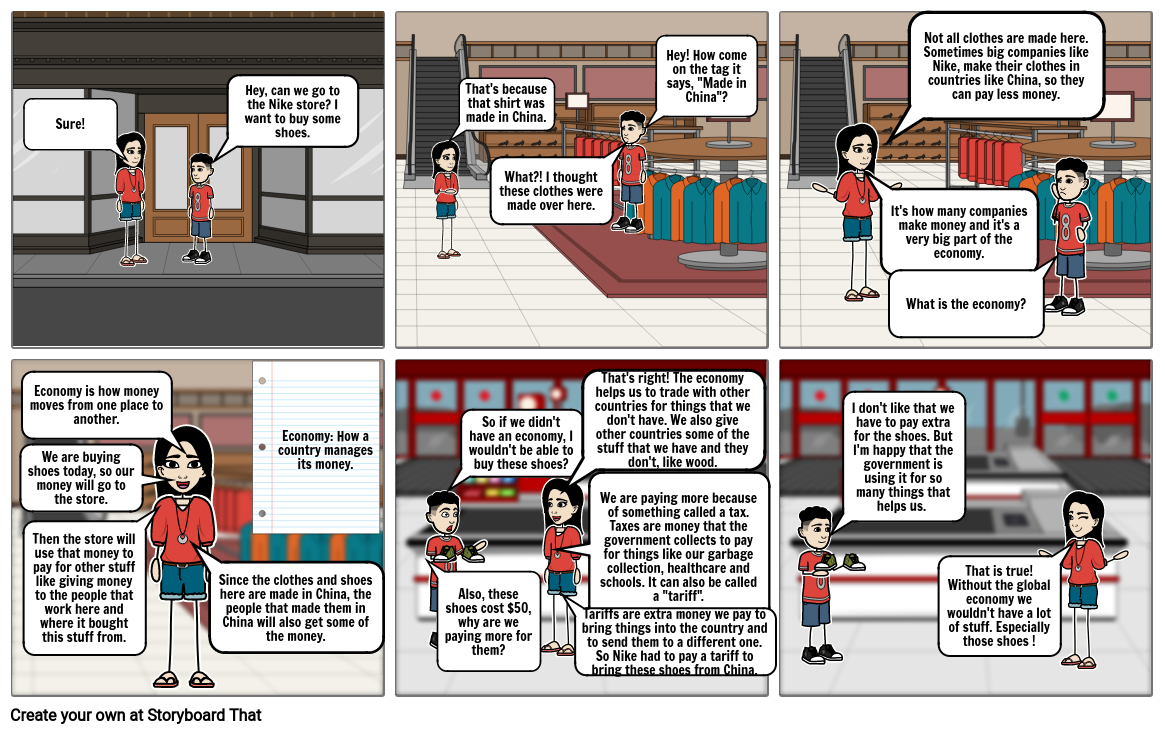 Economy and Trade Nonfiction StoryBoard