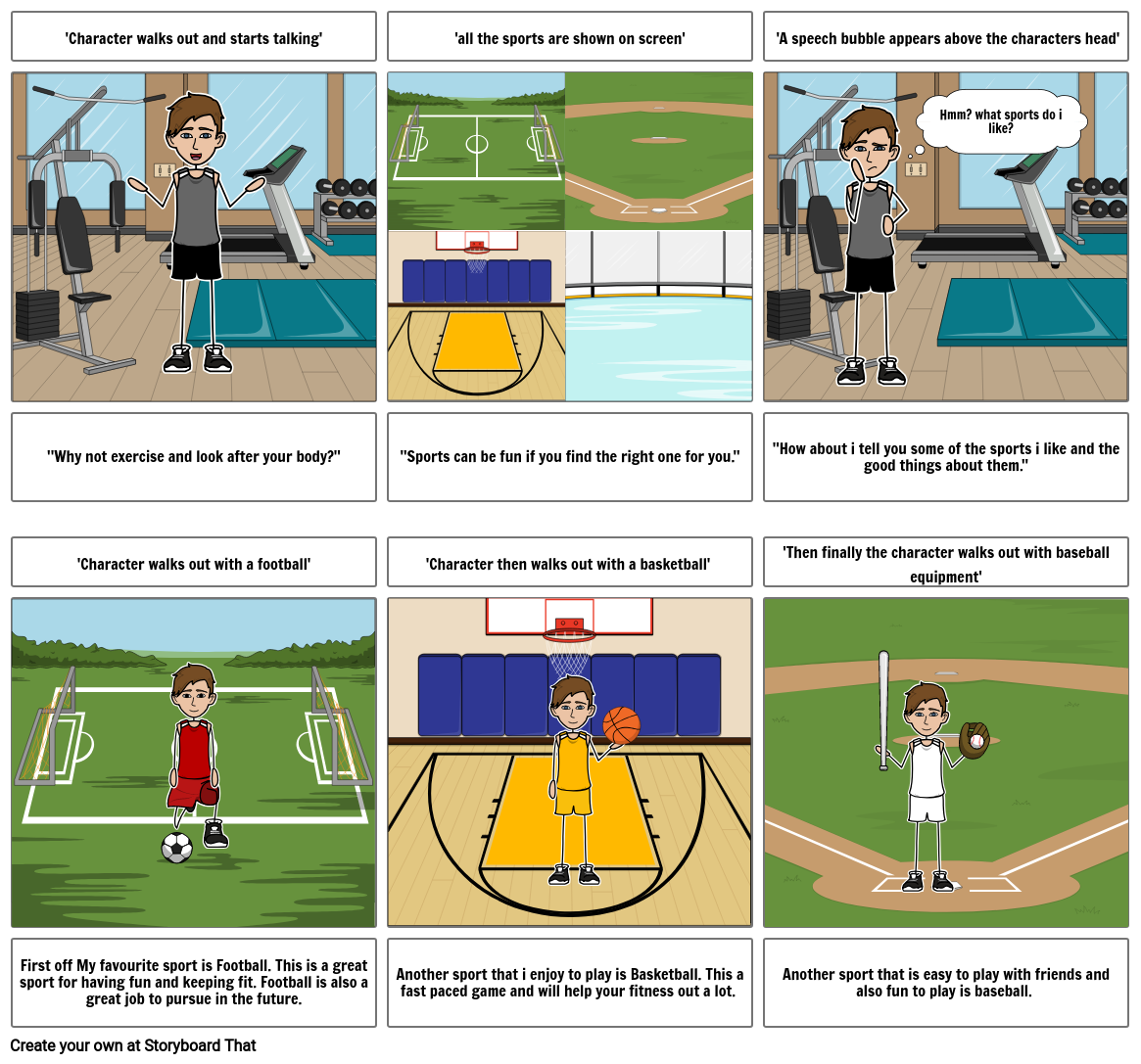 Healthy Living Storyboard