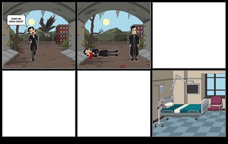 Edgar Allan Poe Comic Strip
