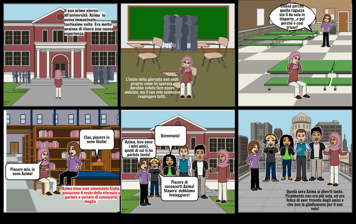 Azima e la sua esperienza all'università