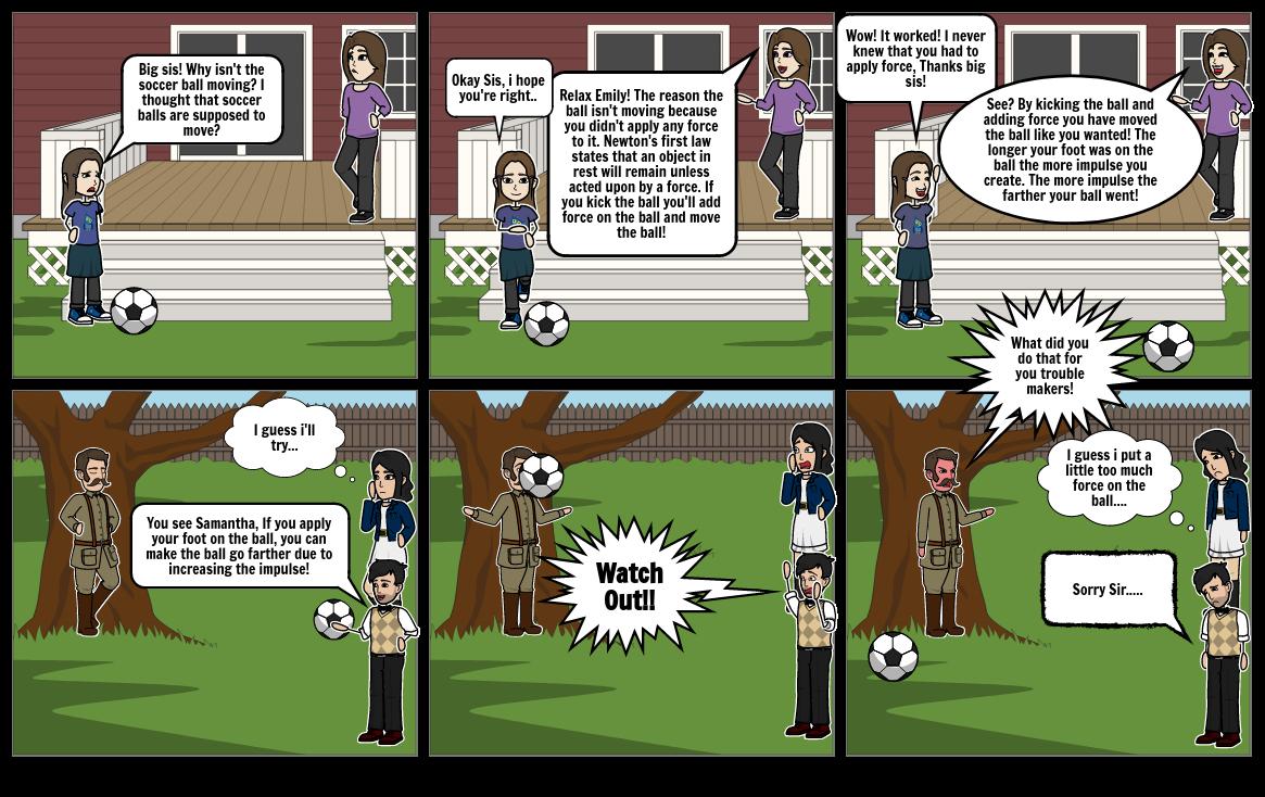 physics sport comic