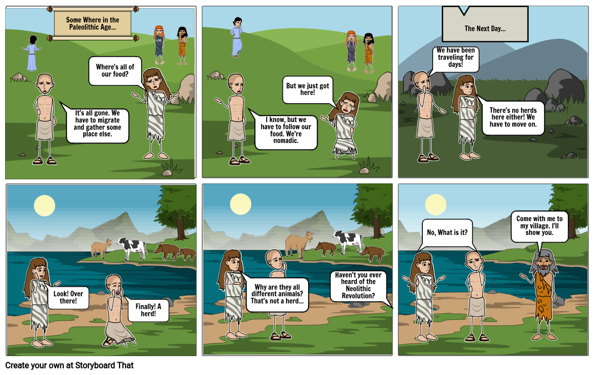 Neolithic Comic page one