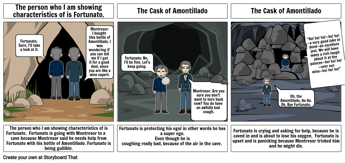 Story Board: The Cask of Amontillado