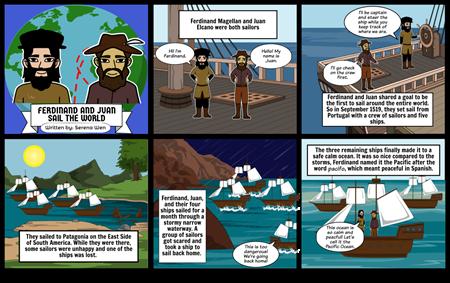 Ferdinand and Juan Sail Around the World