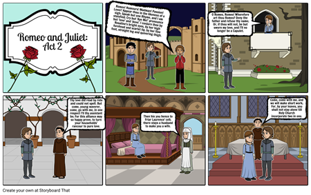 Romeo and Juliet Storyboard: By: Tiana S
