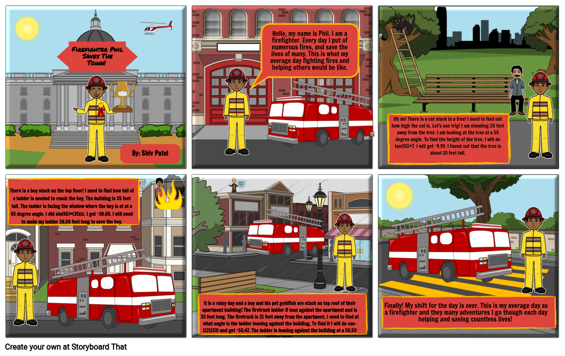 Phil The Firefighter Saves The Town!