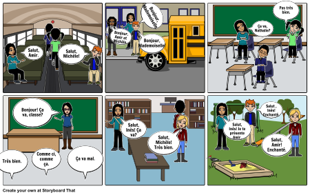 Lecon 1b Greeting Storyboard By: Chyennen Owens