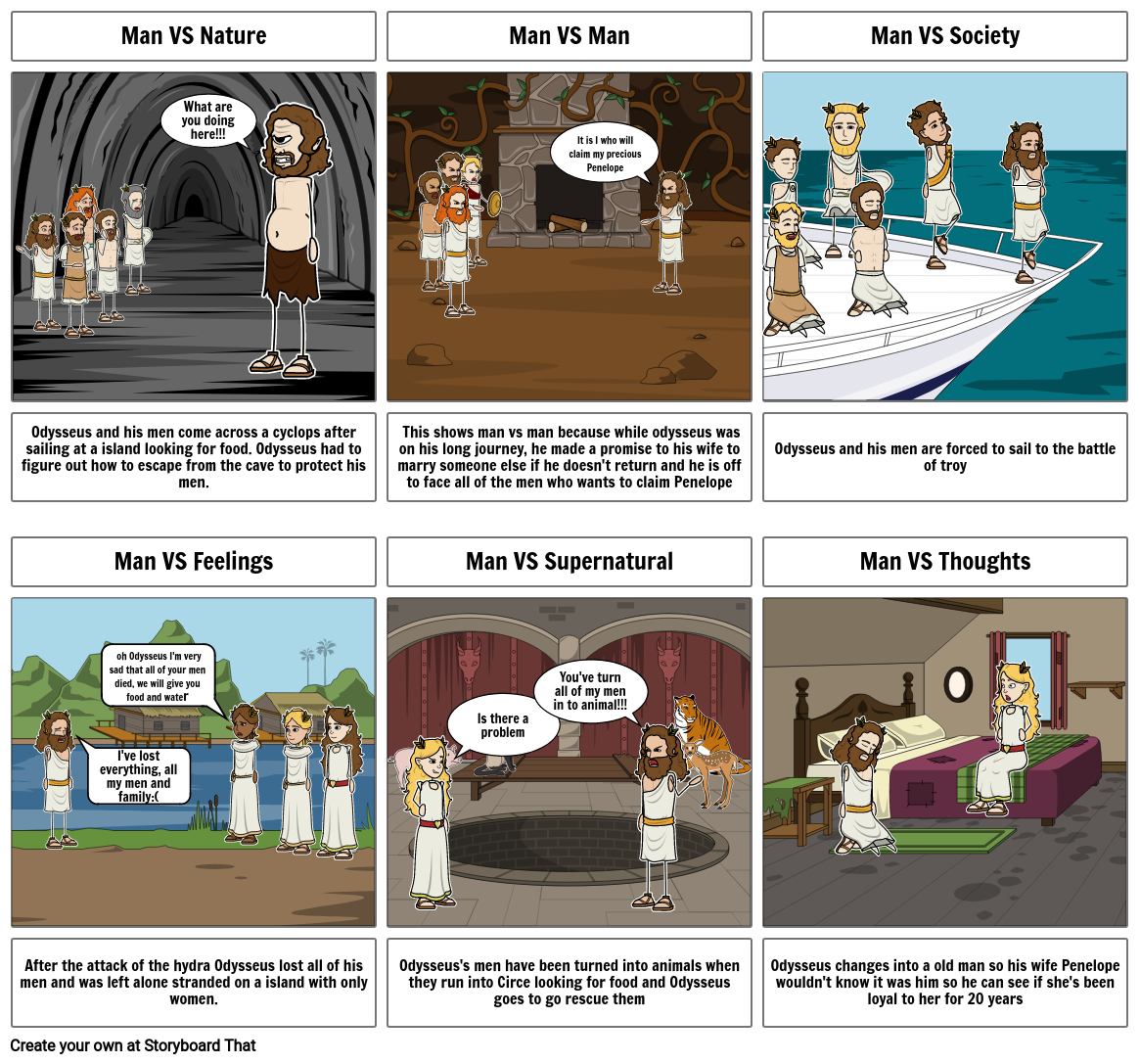 the odyssey story board