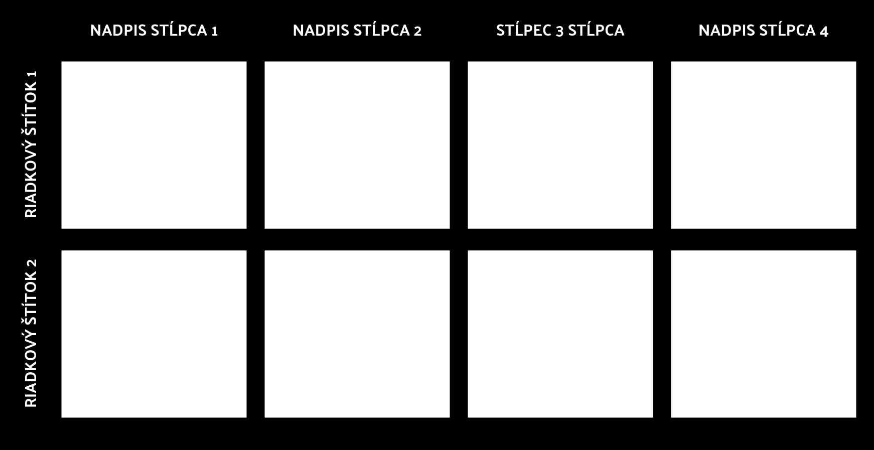 Bloková Tabuľka 2x4
