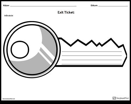 Exit Ticket - Kľúč k Dverám