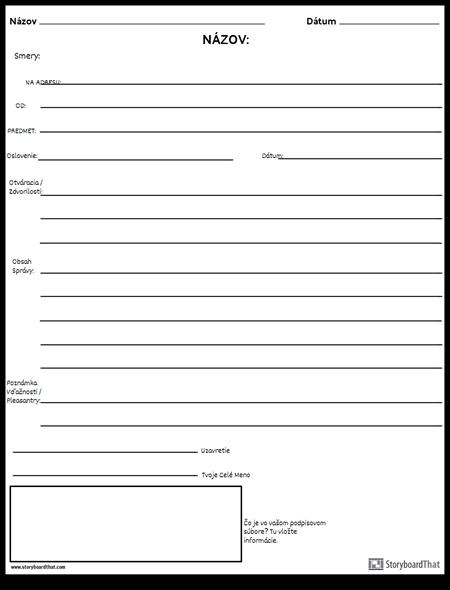 Formálny E-mail 3