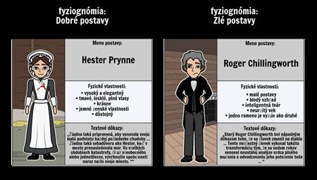 Fyziognomia v The Scarlet Letter: Hester Prynne vs. Roger Chillingworth
