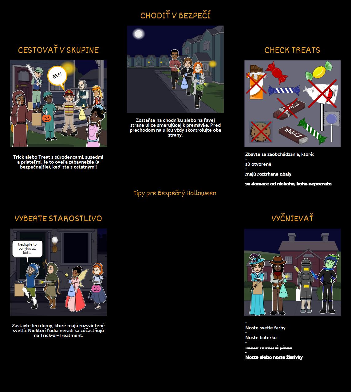 Halloween Aktivity - Bezpečnosť