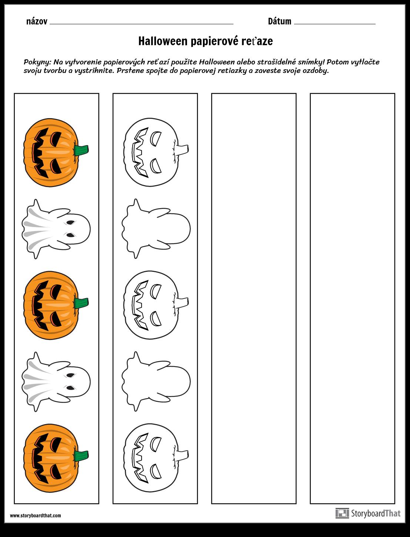 Halloween Papierové Reťaze