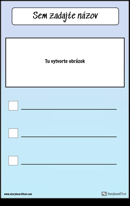 Kontrolný zoznam s obrázkom