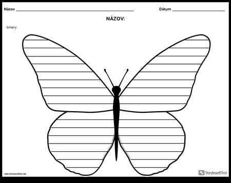 Kreatívne Písanie - Butterfly