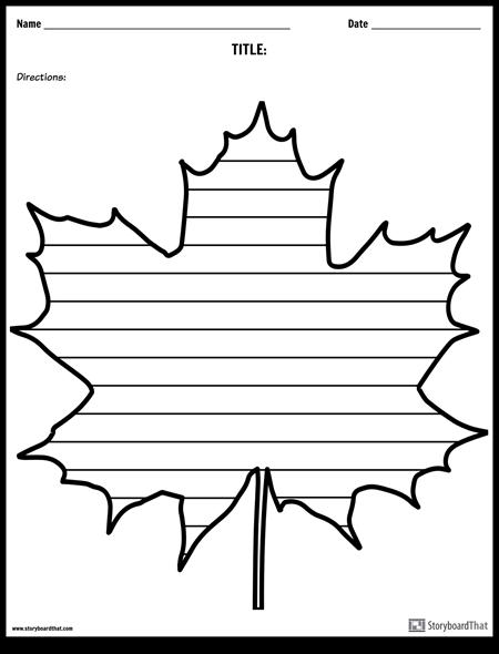 Kreatívne Písanie - Maple Leaf