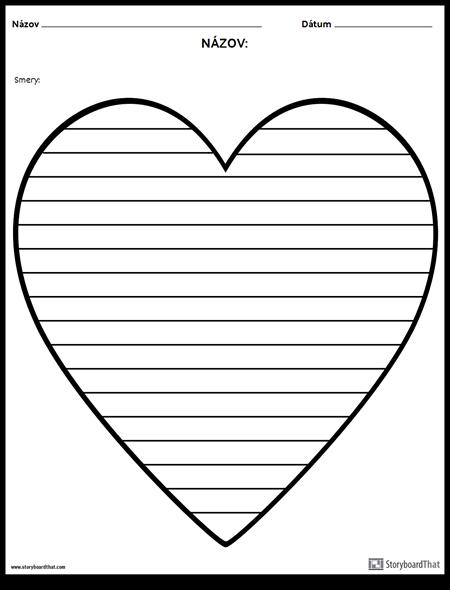 Kreatívne Písanie - Srdce