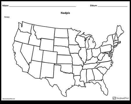 Mapa Spojených Štátov