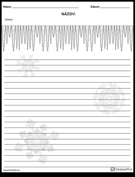 Písanie Kreatív - Zima