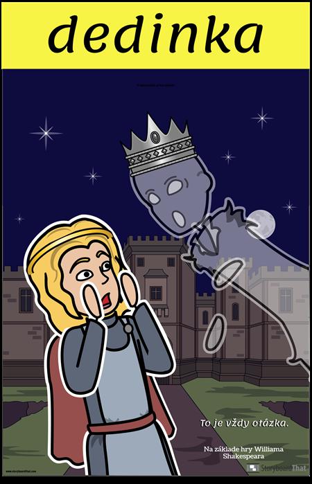 Plagát Hamlet ELA