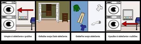 Prvý ... Posledný Príklad - Umývanie Odevov