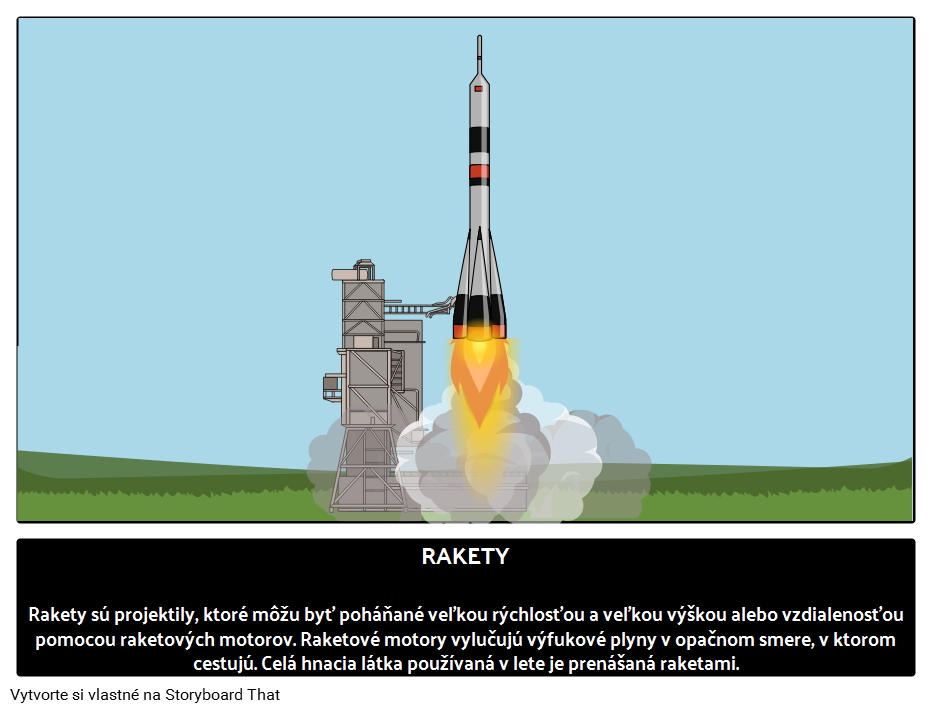 Raketový let