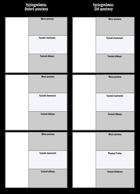 Šablóna Grafu Porovnania Fyziognomie