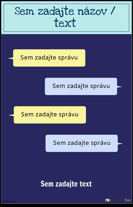 Šablóna PSA pre Textové Správy